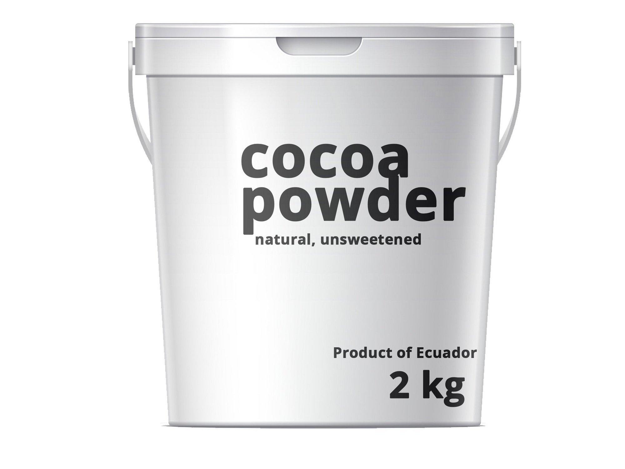 Cacao Cocoa Powder Natural 10/12% 2kg Arriba Ecuador