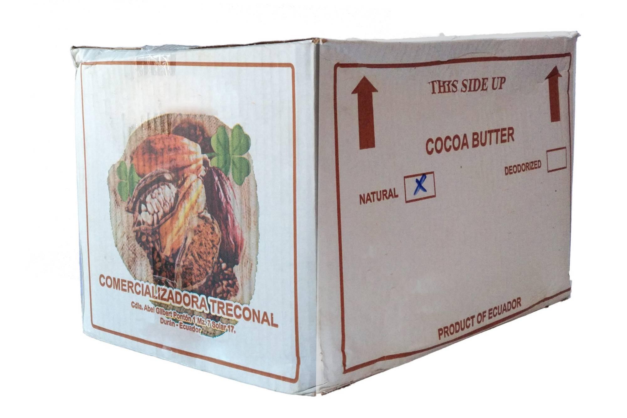 Kakaobutter - 25kg - natürliche unraffinierte Ecuador Lebensmittelqualität